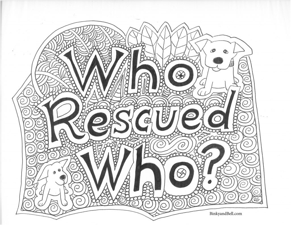 Who Rescued Who? Coloring Page