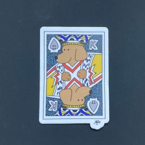 King of Spades Dog Art Sticker