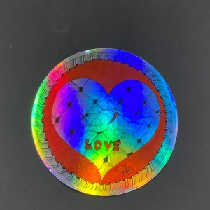 Holographic Dog Love Sticker