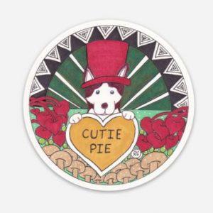 Ruby Cutie Pie Valentine Sticker