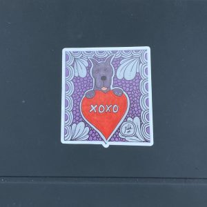 XOXO Great Dane Valentine Sticker