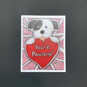 You're Pawsome Valentines Dog Sticker