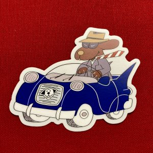 Dapper Dog Sticker