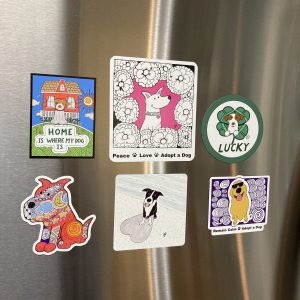 Binky and Bell Dog Art Magnets Bundle