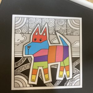 Pinata Dog Art Sticker