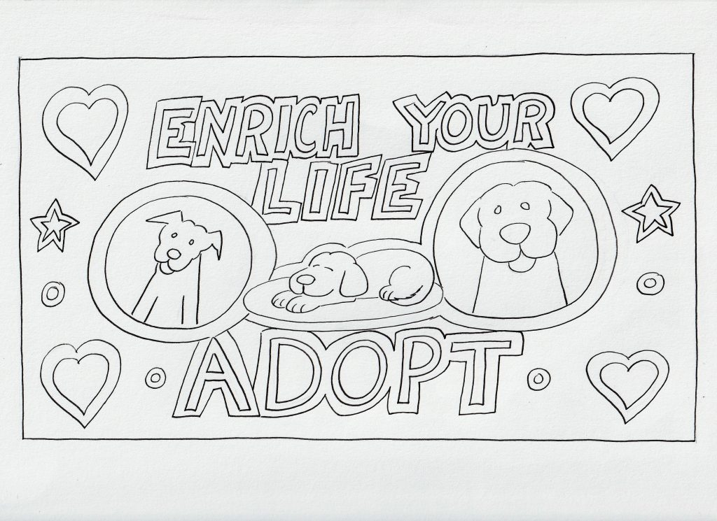 Enrich Your Life Adopt Coloring Page