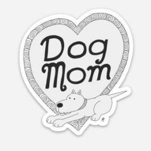 Dog Mom Dog Art Magnet